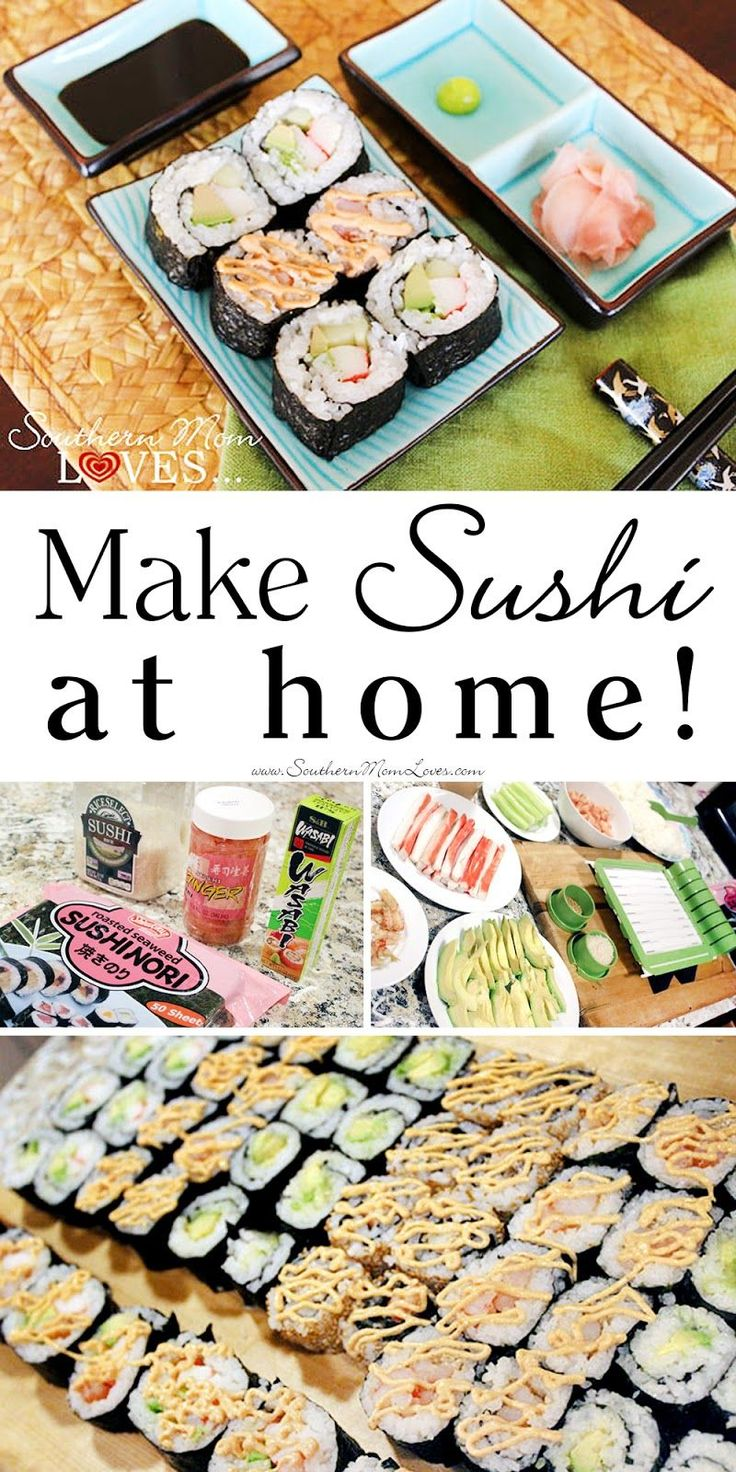 Southern Mom Loves: Make Sushi at Home! {Recipes, Tips, Techniques, and a SushiQuick Review}