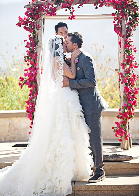 Bougainvillea arch | photos by Meg Perotti | Planning Sitting in a Tree |100 Layer Cake