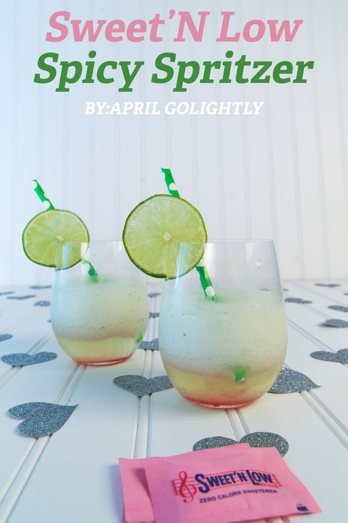 Sweet 'N Low Spicy Spritzer drink cocktail recipe #SweetNLowStars made with hot sauce cupcake Sauvignon blanc #sweetnlowstars #sp