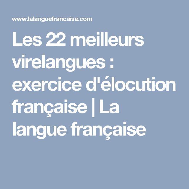 Les 22 meilleurs virelangues : exercice d'élocution française | La langue française