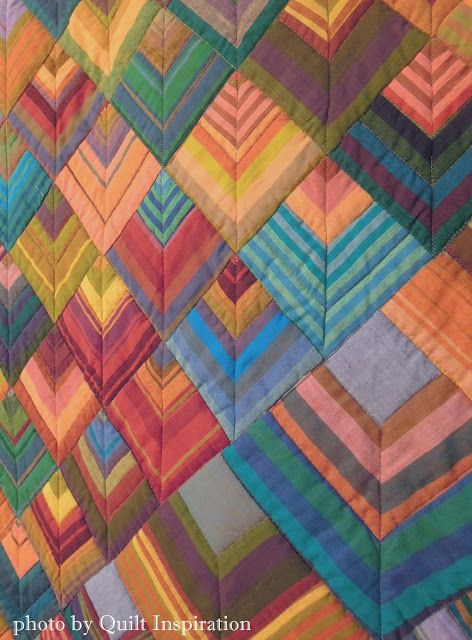 "On Point Handkerchief Corners quilt, 85 x 85"", by Liza Prior Lucy and Kaffe Fassett.  Photo by Quilt Inspiration."