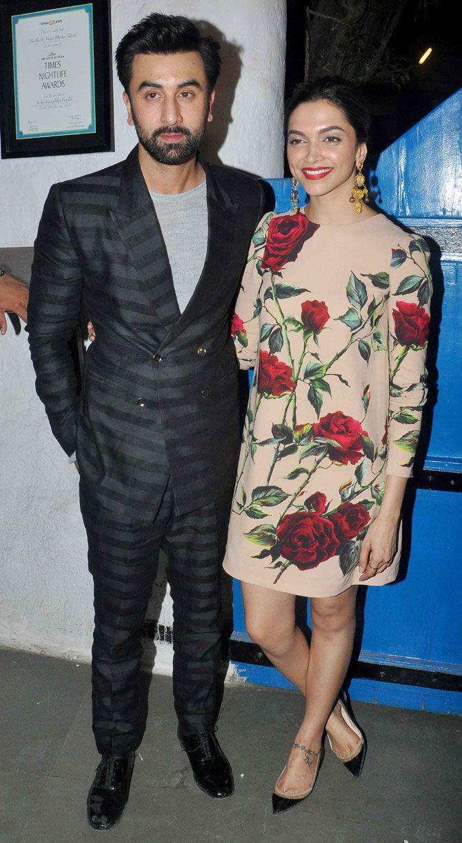 Ranbir Kapoor and Deepika Padukone at #Tamasha success bash. #Bollywood #Fashion #Style #Beauty #Handsome #Hot
