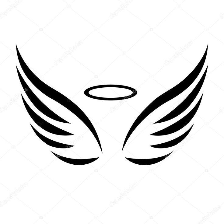 Baixar - Esboço de vetor de asas de anjo — Ilustração de Stock #82116300