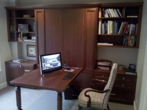 Office with a Murphy BedBathroom Design, Offices Looks, Organic Spaces, Murphy Beds, Small Spaces Living, Home Offices Design, Beds Design, Traditional Home Offices, Traditional Homes