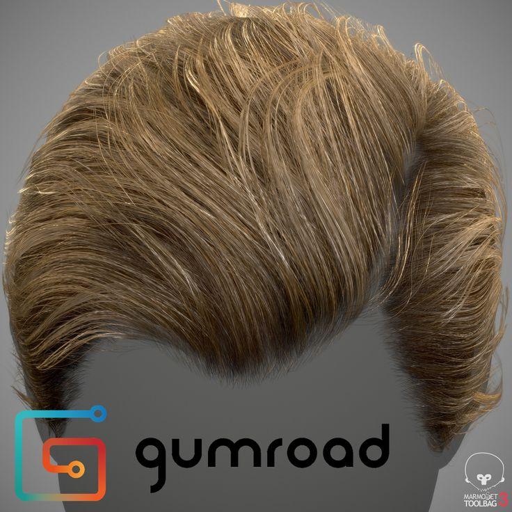 Realtime Hair Example, adam skutt on ArtStation at https://www.artstation.com/artwork/02anK