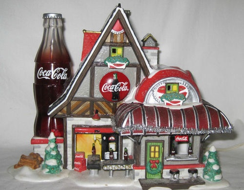 Dept 56 North Pole Coca Cola Fizz Factory