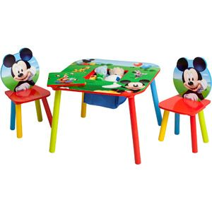 Disney Mickey Mouse Storage Table And Chairs Set Toddler