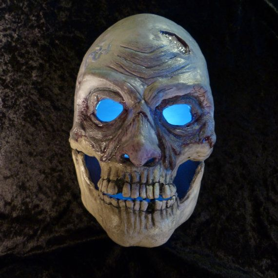 ROTTEN RON, movable jaw mask, Velcro head strap, Halloween horror mask, creepy mask, bone jaw zombie mask, collectors mask