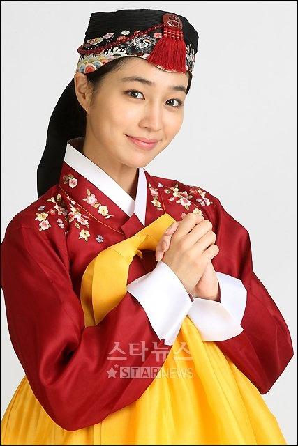 Lee Min Jung dressed up in hanbok