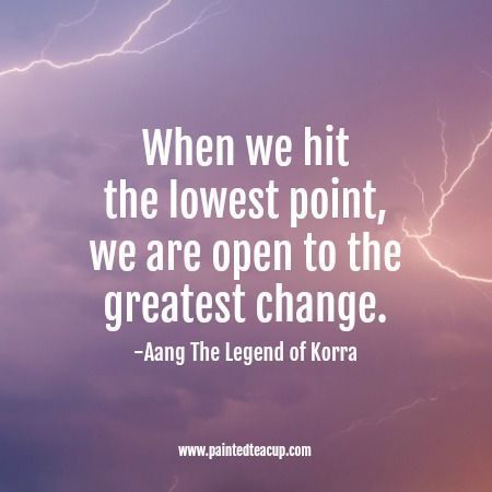 When we hit the lowest point, we are open to the greatest change. Here are 6 quotes to encourage you and bring you hope when you are feeling frustrated, overwhelmed and feel like you've hit rock bottom. Mental health quotes | rock bottom quotes | quotes about hope | quotes about change