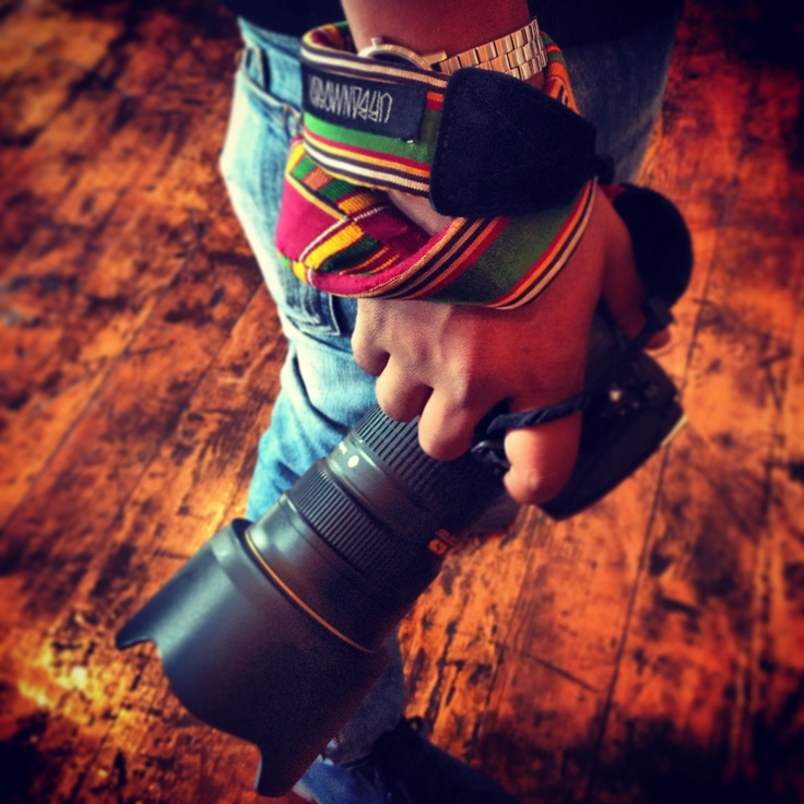 Photographer Mpumi. Love his camera strap, made by Urban Mosadi #unitedrepublic