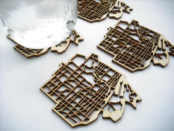 How cool are these Toronto map coasters? National Design Collective