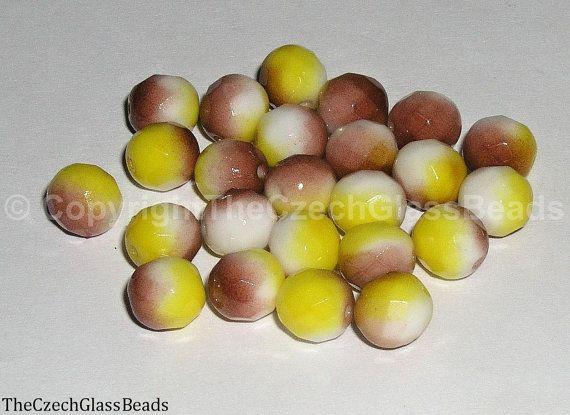 Czech Firepolished Beads 8mm 02010/95400