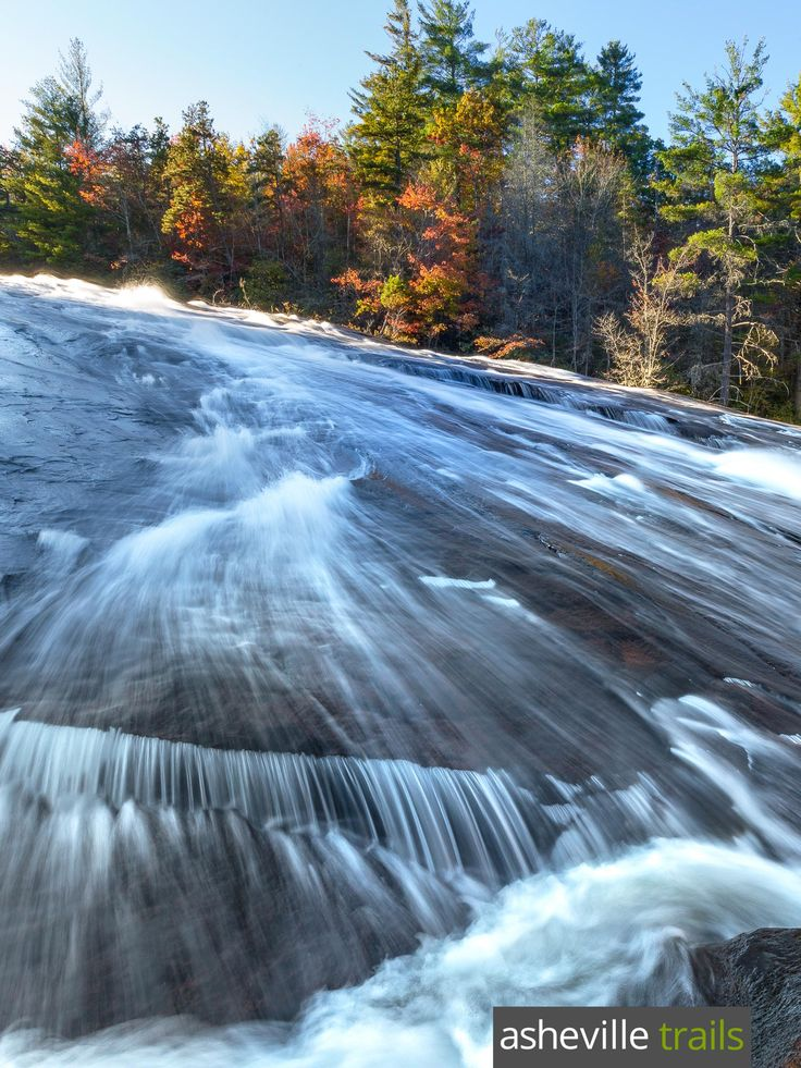 Hike to Bridal Veil Falls, one of the most beautiful waterfalls at DuPont State Forest in Western North Carolina