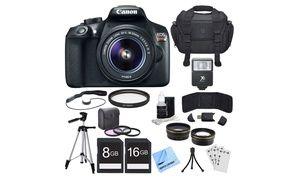 Groupon - Canon EOS Rebel T6 18MP 1080p DSLR Single-Lens Bundle. Groupon deal price: $449