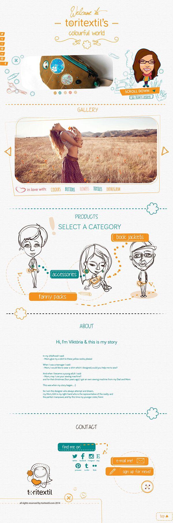 webdesign for my fanny packs by @csengerieszter  #webdesign #behance #handdrawn #fannypack #bumbag #hipbag #sewing #friends #designer