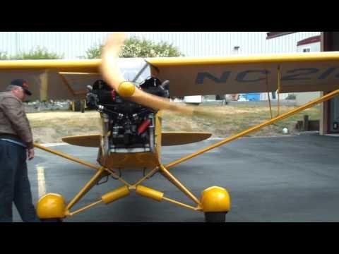 1938 J3 Piper Cub Startup