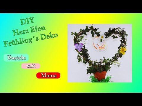 DIY Herz Efeu/Frühlings Deko/Ostern/Geburtstag/Efeu/Efeu Herz selber machen