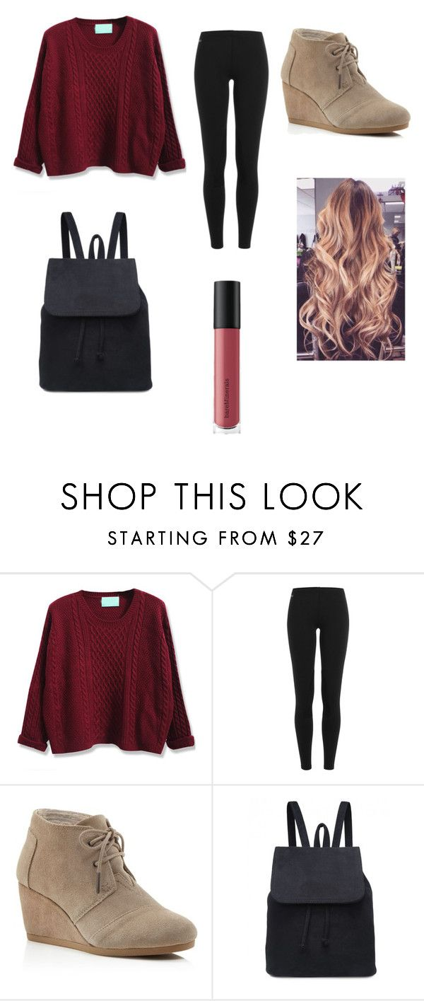 """Untitled #152"" by sadiecoda on Polyvore featuring Polo Ralph Lauren, TOMS and Bare Escentuals"