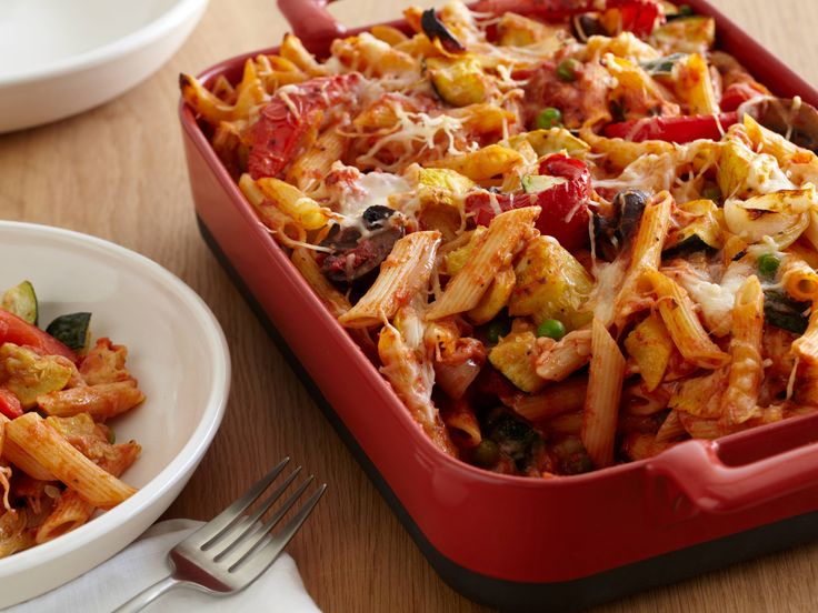Baked Penne with Roasted Vegetables Recipe : Giada De Laurentiis : Food Network - FoodNetwork.com
