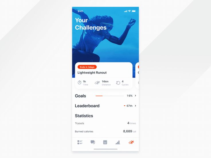 Fitness app - Challenges by Stanley Haladej
