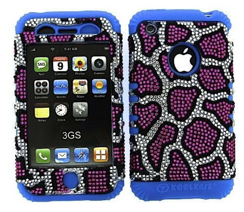 BUMPER CASE FOR APPLE IPHONE 3G 3 G SOFT BLUE SKIN HARD BLING PINK LEOPARD COVER by Apple. $16.95. Combo Hybrid Heavy Duty Bumper Cover Case. Hard Plastic Protector Faceplate Snap-On with a Soft Silicone Rubber Gel Skin For Your Cell Phone. Express yourself with this unique snap on protector cover for your phone. Protect your phone from everyday use while providing your own new look with this cover. These faceplate are easy to install. No tools necessary, they ju...