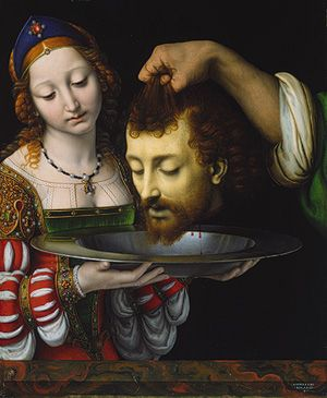 andrea solario, salome with the head of saint john the baptist.  love northern renaissance art. the colors and the flawless painting- amazing.