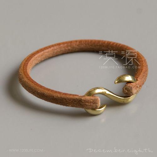 Leather bracelets 'S' hook