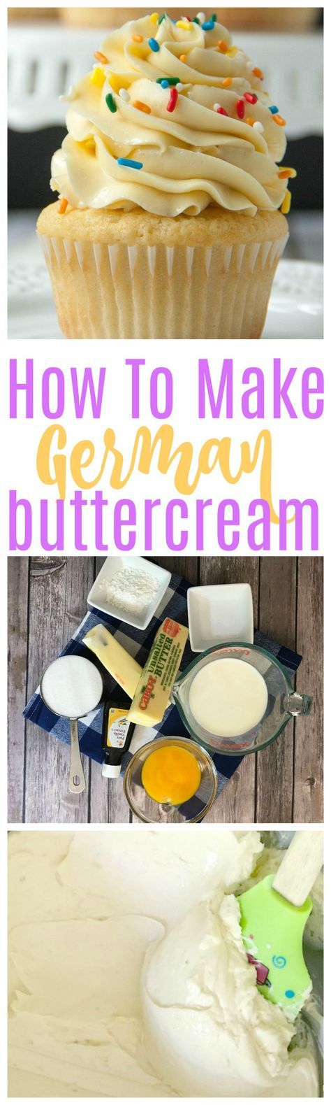 how to make german buttercream | german buttercream | buttercream | buttercream recipes | frosting recipes | frosting | cupcakes |