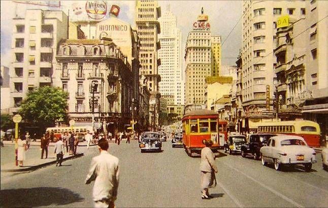 Avenida São João, São Paulo, 1952.    #saopaulo #brazil