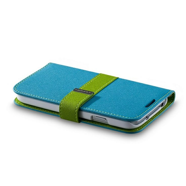 Momax Dagbok Flip Fodral - Samsung Galaxy S4 i9500, i9502, i9505 - Blå