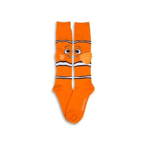Disney Women's Knee-High Socks Finding Nemo - Nemo 1-Pack - Orange One... ($9.99) ❤ liked on Polyvore featuring intimates, hosiery, socks, disney socks, disney, knee socks, knee high socks and orange knee socks
