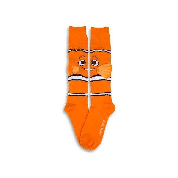 Disney Women's Knee-High Socks Finding Nemo - Nemo 1-Pack - Orange One... ($9.99) ❤ liked on Polyvore featuring intimates, hosiery, socks, disney socks, disney, knee socks, knee high socks and orange knee socks