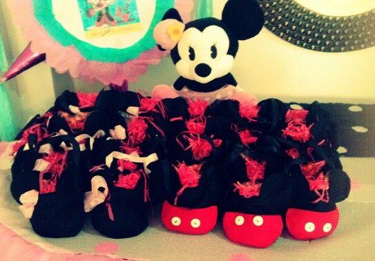 Bolsas De Fieltro Para Dulces Mickey Amp Minnie Pinterest