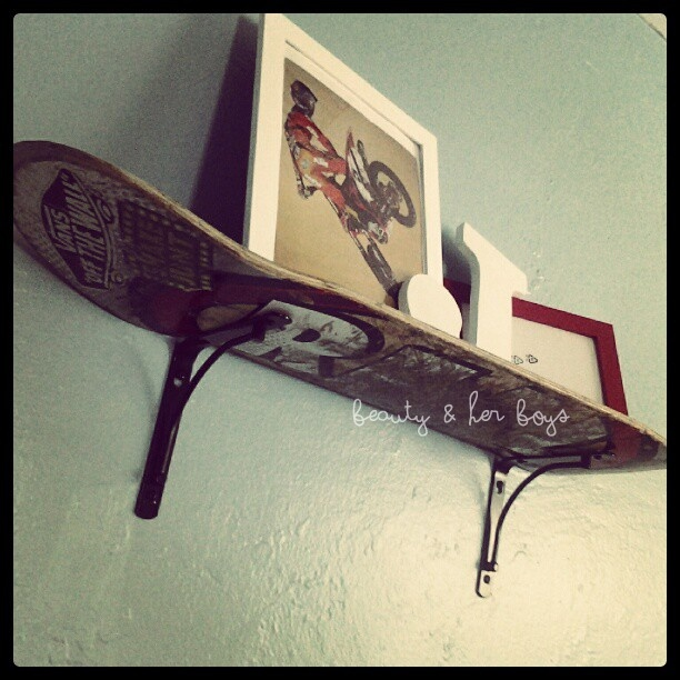 Skateboard shelf.. So should do this for chase!