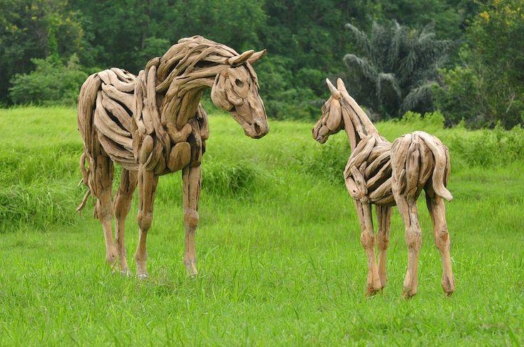 Voltigierpferd Holz Selber Bauen ~   Holzpferd Garten no Pinterest  Holzpferd, Voltigierpferd e Marcenaria