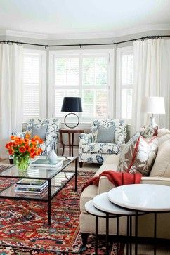 18 best images about bay window curtain ideas on pinterest bay window treatments lake house. Black Bedroom Furniture Sets. Home Design Ideas