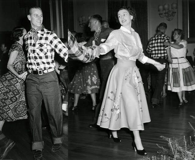 Princess Elizabeth and her husband Prince Philip enjoy an old-fashioned hoedown in Ottawa, 1951