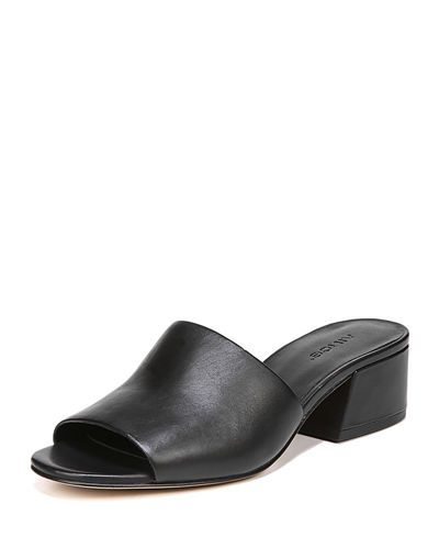 88e907e08f95 VINCE KARISSA LEATHER SLIDE SANDAL.  vince  shoes