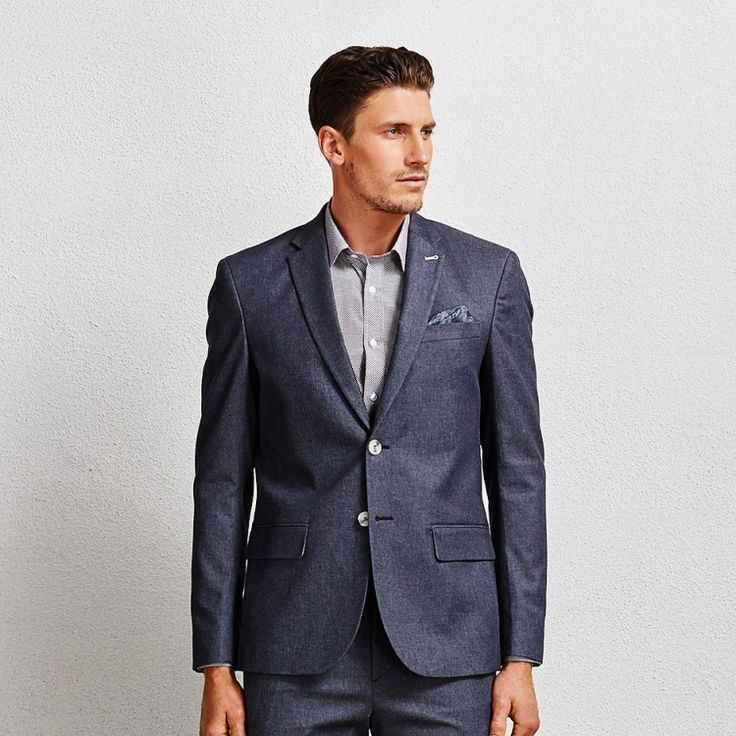 Hunter Denim Suit Blazer #suit #denimsuit #denimblazer #aquila