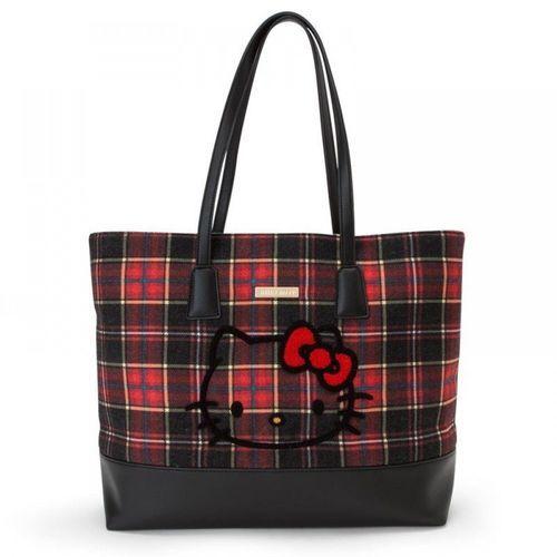 d2b2a87adde1 Hello Kitty Scottish Tartans Tote Bag and Pouch Set - sakuraya japan kawaii  fashion  hellokitty  scottishtartans  bagset