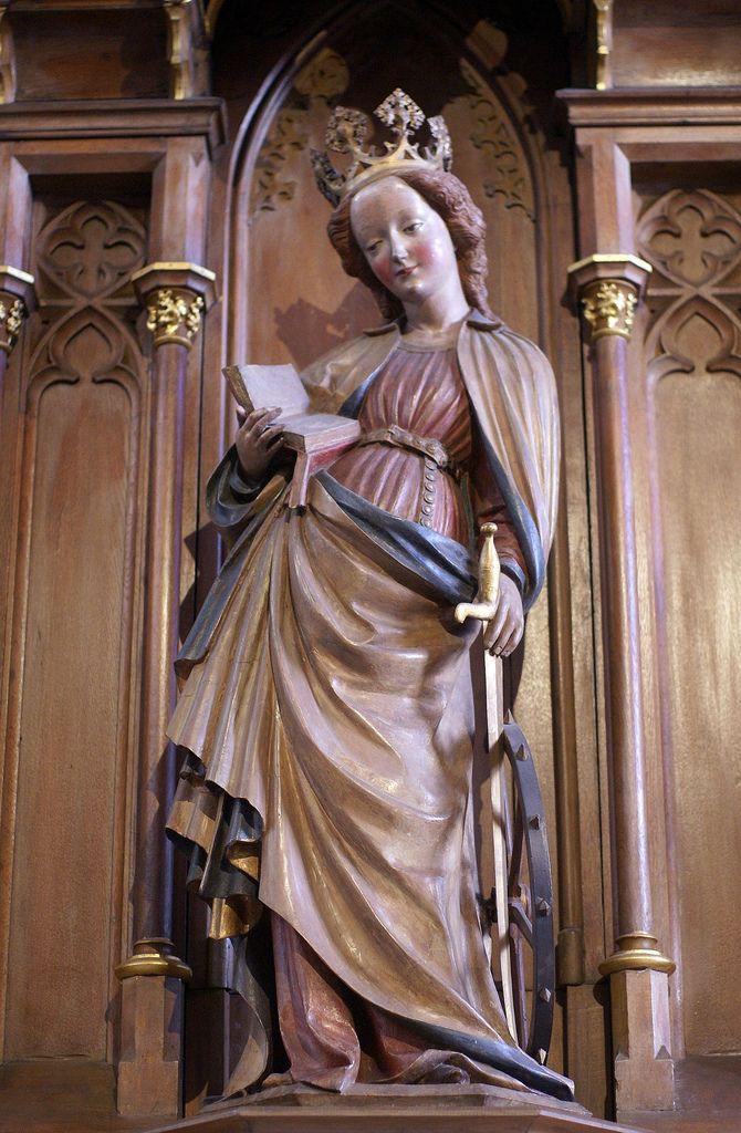 Bingen, Basilika St. Martin, hl. Katharina von Alexandrien (St. Catherine of Alexandria)