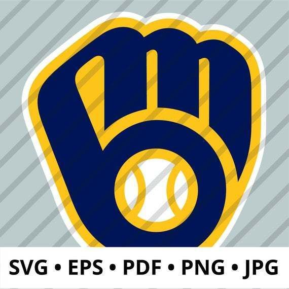 Milwaukee Brewers Logo Layered Svg Mil Brewers Mlb Logo Perfect For Diy Crafts Digital Download Includes Svg Eps Pdf Mlb Logos Nfl Memes Milwaukee Brewers