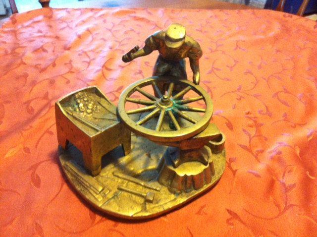 Blacksmith at the anvil by Puddledub on Etsy