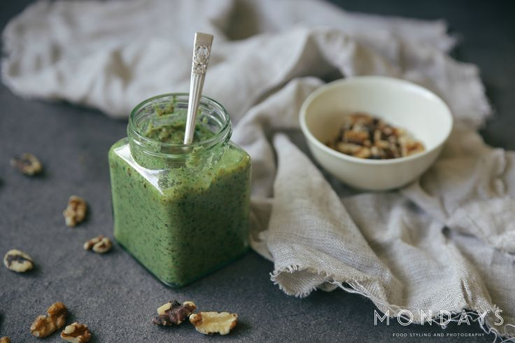 Hempseed oil pesto dip  For food styling and photography services, please email info@mondayswholefoods.com