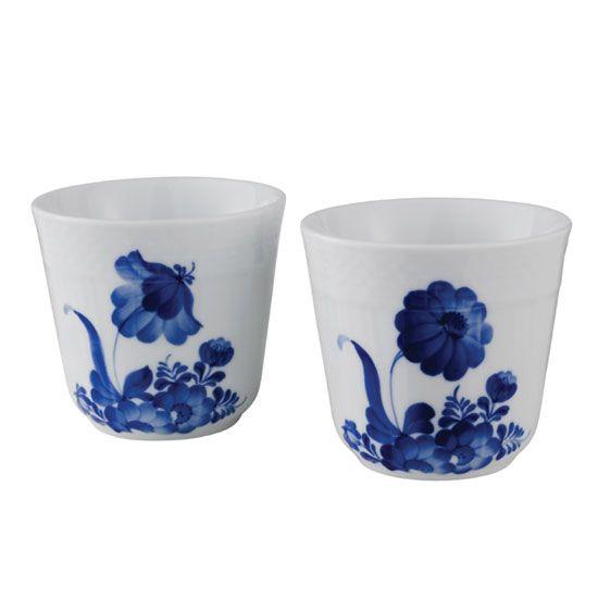 Blå Blomst Svejfet - Termokrus 2 stk