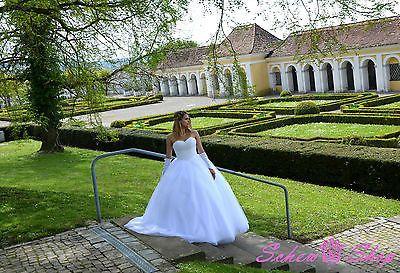 NEU Prinzessin Brautkleid Hochzeitskleid 34 36 38 40 42 44 46 48 50 Braut Kleid 2