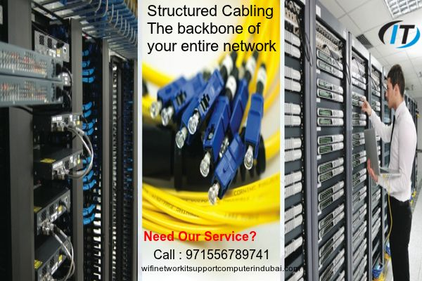 with our service #structured cabling system provides the critical foundation for your business. The caliber and performance of your #Information Systems and the #networks they run on, can mean the difference between success and failure in today's competitive business environment. Our service of Structured #cabling systems provide outstanding performance, #reliability, manageability, and a potential for growth we provide best structured cabling service in ajman, sharjah, dubai…