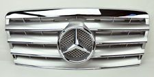 Mercedes E Class W124 94-95 5 Fin Front Hood Sport Silver Chrome Grill Grille  (Fits: Mercedes-Benz)