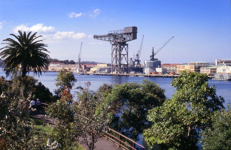 Hammerhead Crane, Garden Island, Sydney now demolished, August 1996. © Eric Sierins photo.